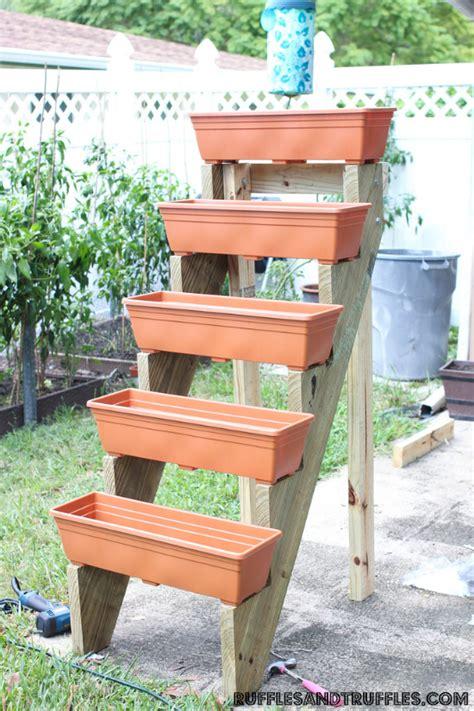 Vertical Garden Boxes by Diy Vertical Planter Garden