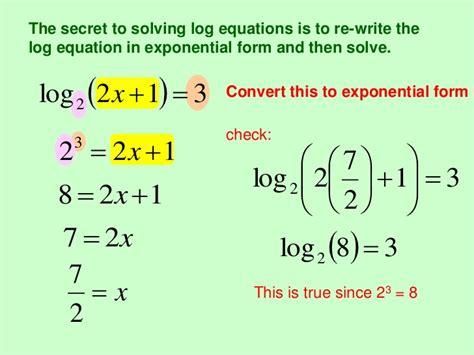 math chapter  exponentials  logarithms