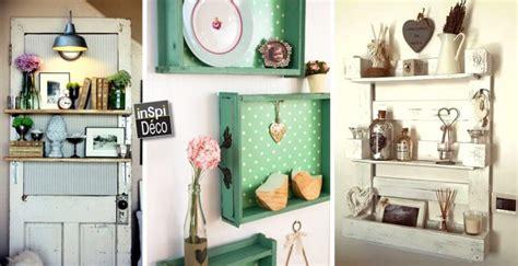 cuisine à faire soi même une étagère à faire soi même avec des matériaux de récup