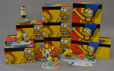 Nine Coalport The Simpsons China Collection Figurines