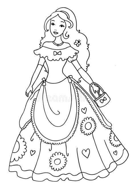 princesse coloring page illustration stock illustration