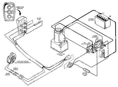 wiring diagram mercruiser trim need wiring for 1987 4 cyl power trim wiring