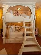 French Style In White Kids Wooden Bunk Bed Dream House Princess Bed Furniture Of America Mission Style Junior Twin XL Over Queen Bunk Bed Various Style And Size For Cool Kids Bunk Beds With Bed Black Kids Bedroom Decorating Ideas Using Loft Bed With Cool Styles Design