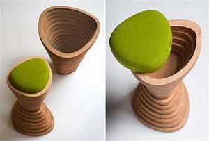 Tabouret Bois Design : tabouret design pour la maison ~ Teatrodelosmanantiales.com Idées de Décoration