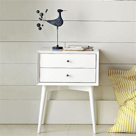 White Simple Nightstand by Chic And Simple Mid Century Nightstand