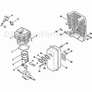 Stihl Ts 360 Disc Cutter  Ts360  Parts Diagram  B