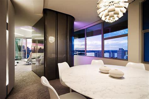 modern apartment interior design  warm  glamour style