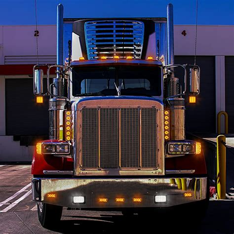 semi truck clearance lights square led pedestal double faced truck and trailer lights