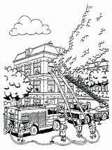 Coloring Fire Pages Fireman Sam Printable Colouring Truck Bestcoloringpagesforkids Putting Trucks Firefighter sketch template