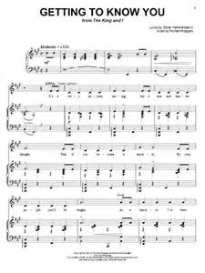 Getting to Know You Sheet Music