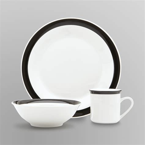 dinnerware sets dinner tableware banded piece essential discount dishes plates casual cheap stoneware kmart contemporary coasters placemat insulation silicone mat