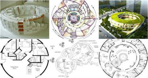 Circular Plans of Different Types of Buildings in the Word