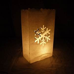 Snowflake Paper Luminaries Luminary Lantern Bags Path