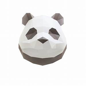 Trophée Animaux Origami : troph e origami en papier panda marron ~ Teatrodelosmanantiales.com Idées de Décoration