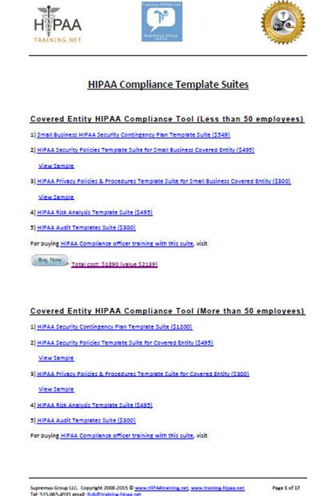 compliance policy template flyers hipaa training and certification