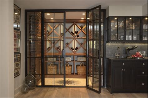 glass door to wine cellar favorite places and spaces