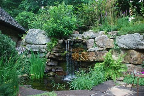 rustic garden features water features rustic landscape other metro by snow creek landscaping llc