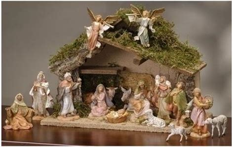 decorate in tuscan style with christmas nativity scenes