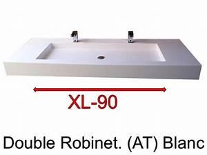 Meuble Double Vasque 110 Cm : vasques largeur 110 plan vasque suspendue ou encastrer double robinetterie largeur 110 cm ~ Melissatoandfro.com Idées de Décoration