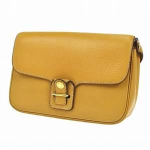 82df646f9d hermes vintage mustard leather gold hardware crossbody shoulder bag at  1stdibs