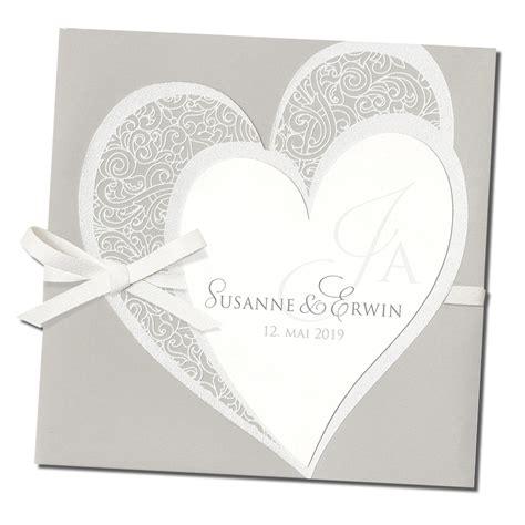 einladungskarten romantisches design aus edlen mat