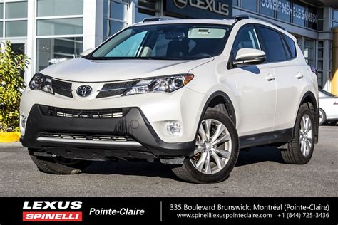 used 2013 toyota rav4 limited tech pkg for sale in montreal p1604 spinelli toyota pointe