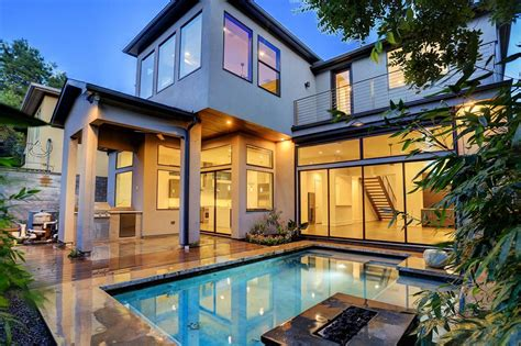 Home Design Plans Houston by Contemporary Home For Sale In Kirby Stuns With Pool