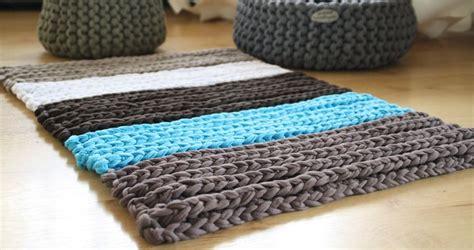 teppich aus newline textilgarn haekeln