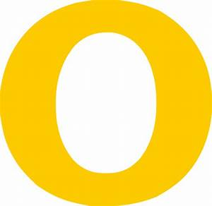 o single yellow letter clip art at clkercom vector clip With big yellow letters