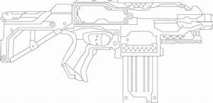 Sniper Nerf Gun Drawing