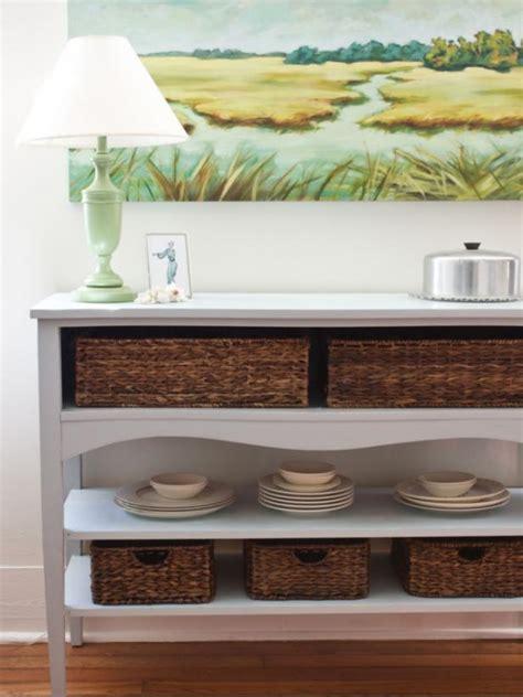 create  buffet  basket storage hgtv