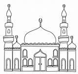 Mosque Outline Ramadan sketch template