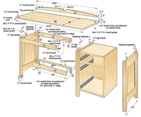 woodwork easy build   computer desk plans  plans