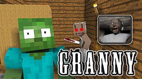 monster school granny horror game challenge minecraft animation youtube