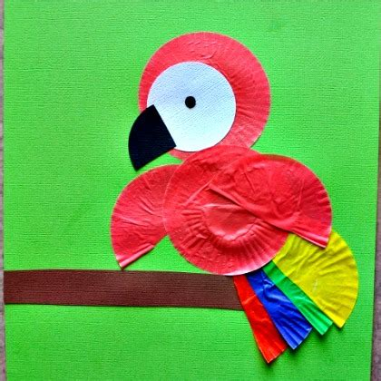25 beautiful brazil inspired crafts for 927 | cupcake liner parrot