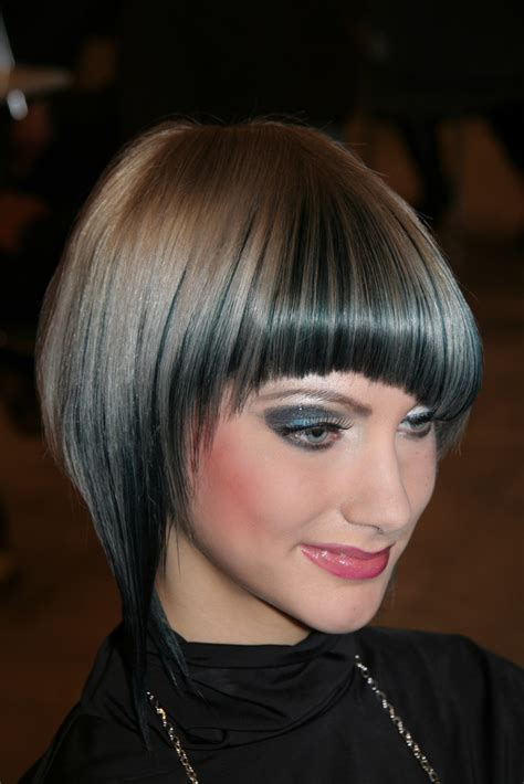 bob haircut  bangs trend hairstyles