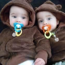 Cute Newborn Twin Babies