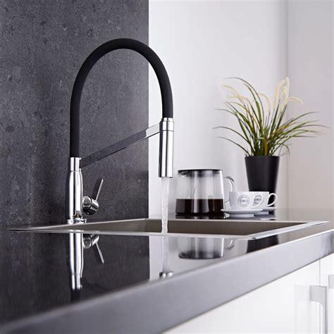 mitigeur cuisine noir avec douchette kt0049c plomberie sanitaire chauffage