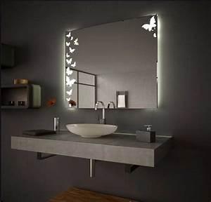 Beleuchtung Für Badspiegel : badezimmerspiegel mit led beleuchtung verziert schmetterlingmotiv beste hause ~ Markanthonyermac.com Haus und Dekorationen