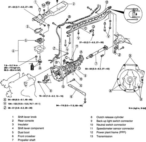 91 Mazda Protege Engine Diagram by Repair Guides Manual Transaxle Transaxle Removal