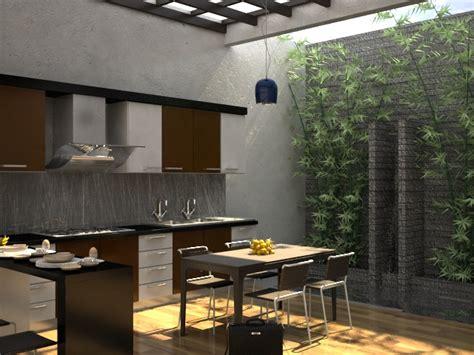 gambar desain dapur  ruang makan terbuka outdoor