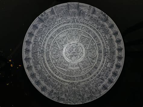 printable aztec calendar sun stone  daniel huerta