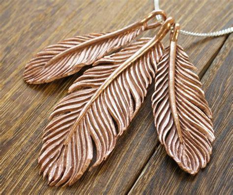 tutorial art clay copper feather pendants metal