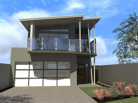 Famous Narrow Lot House Plans Modern Design Colors Single