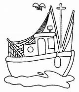 Boat Coloring Fishing Pages Cartoon Clipart Row Printable Drawing Bass Colouring Boats Steamboat Fish Ship Traditional Kidsplaycolor Clip Play Cliparts sketch template