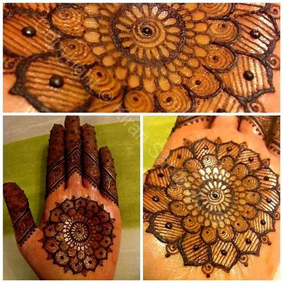 Mehndi Eid Designs Round Latest Hand Tikka