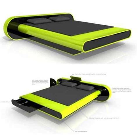 futuristic floating bed design cool geeky stuff