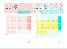 Calendário 2018 Gratuito para Download Mesa Pronta