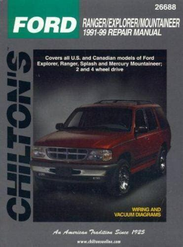 car service manuals pdf 1988 ford exp security system 1991 1999 chilton ford ranger explorer mountaineer repair manual 801991315 ebay