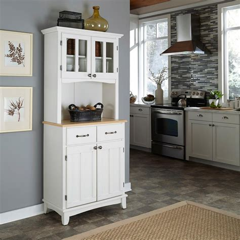 home styles white buffet  hutch